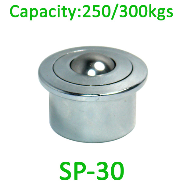 SP-30 ball transfer unit,250kg load capacity ,30mm machined ball unit